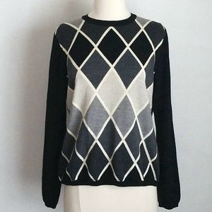 Brooks Brothers Merino Wool Argyle Diamond Sweater